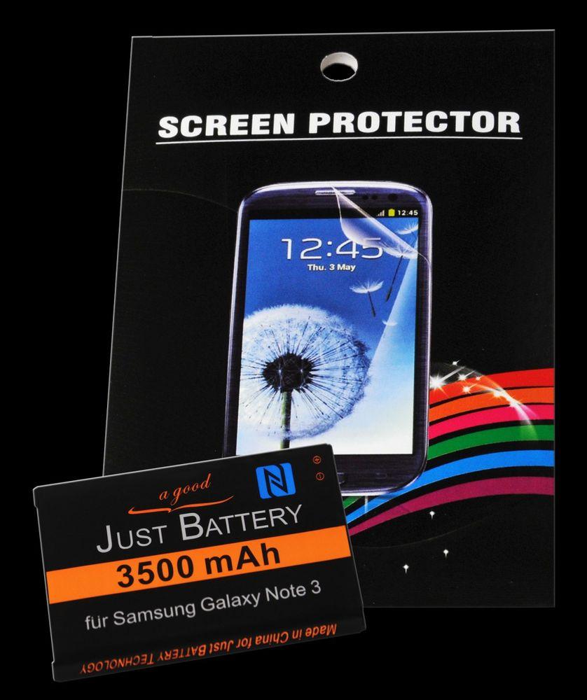 Akku + 4x Folie für Samsung GT-n9000 Galaxy Note 3