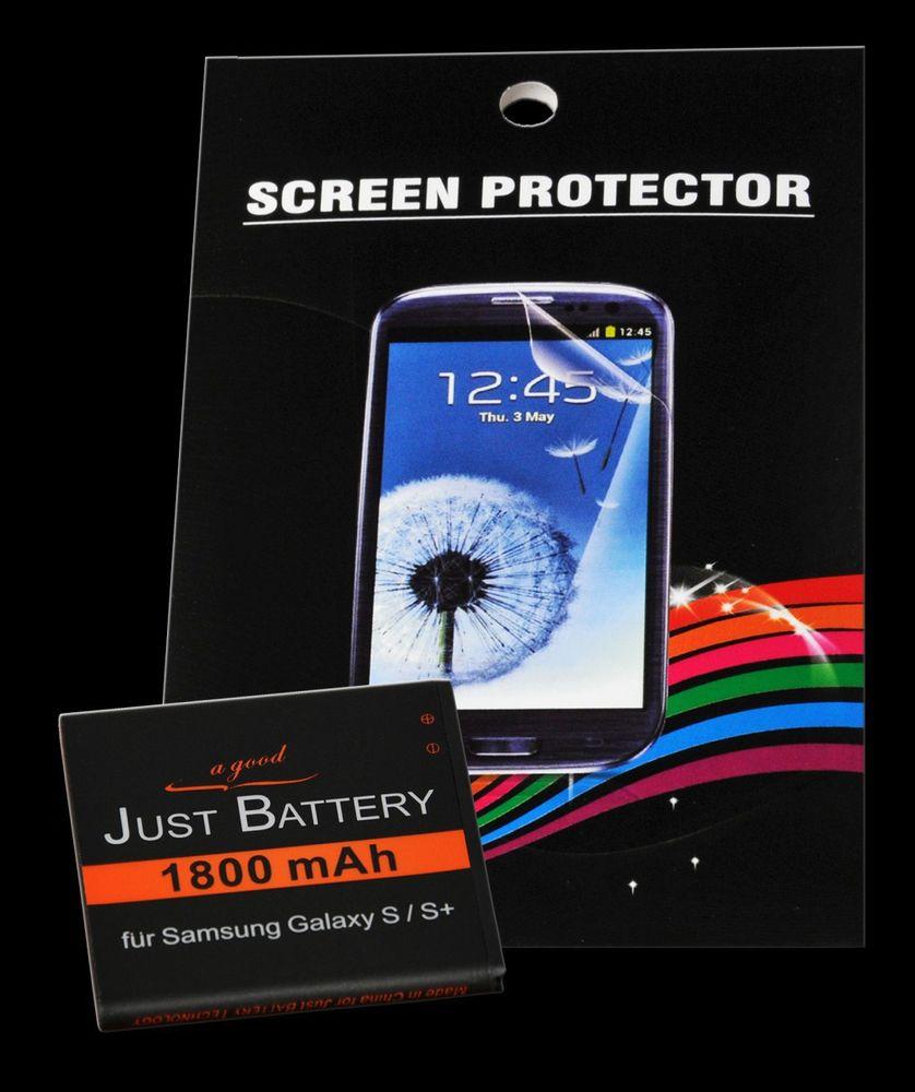 Akku + 4x Folie für Samsung GT-i9001 Galaxy S Plus