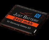 jubatec.net: Akku Nachbau für Samsung Galaxy, 2400 mAh