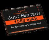 original JuBaTec Akku für Samsung Wave M GT-s7250 mit 1550 mAh ersetzt EB494358VU