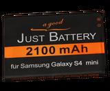 original JuBaTec Akku für Samsung Galaxy S4 mini DuoS GT-i9192 mit 2100 mAh ersetzt EBB500BE
