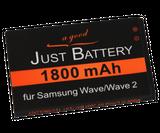 original JuBaTec Akku für Samsung Galaxy Spica GT-i5700 mit 1800 mAh ersetzt EB504465VU