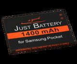 original JuBaTec Akku für Samsung Galaxy Pocket Plus GT-s5301 mit 1400 mAh ersetzt EB454357VU