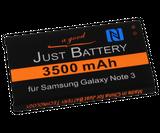 original JuBaTec Akku für Samsung Galaxy Note 3 LTE SM-n9005 mit 3500 mAh und NFC ersetzt EB-B800BE