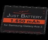 original JuBaTec Akku für Samsung Galaxy Ace 3 DuoS GT-s7272 mit 1650 mAh ersetzt EB-B100AE
