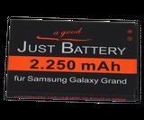 original JuBaTec Akku für Samsung Galaxy Grand DuoS GT-i9082 mit 2250 mAh ersetzt EB-535163