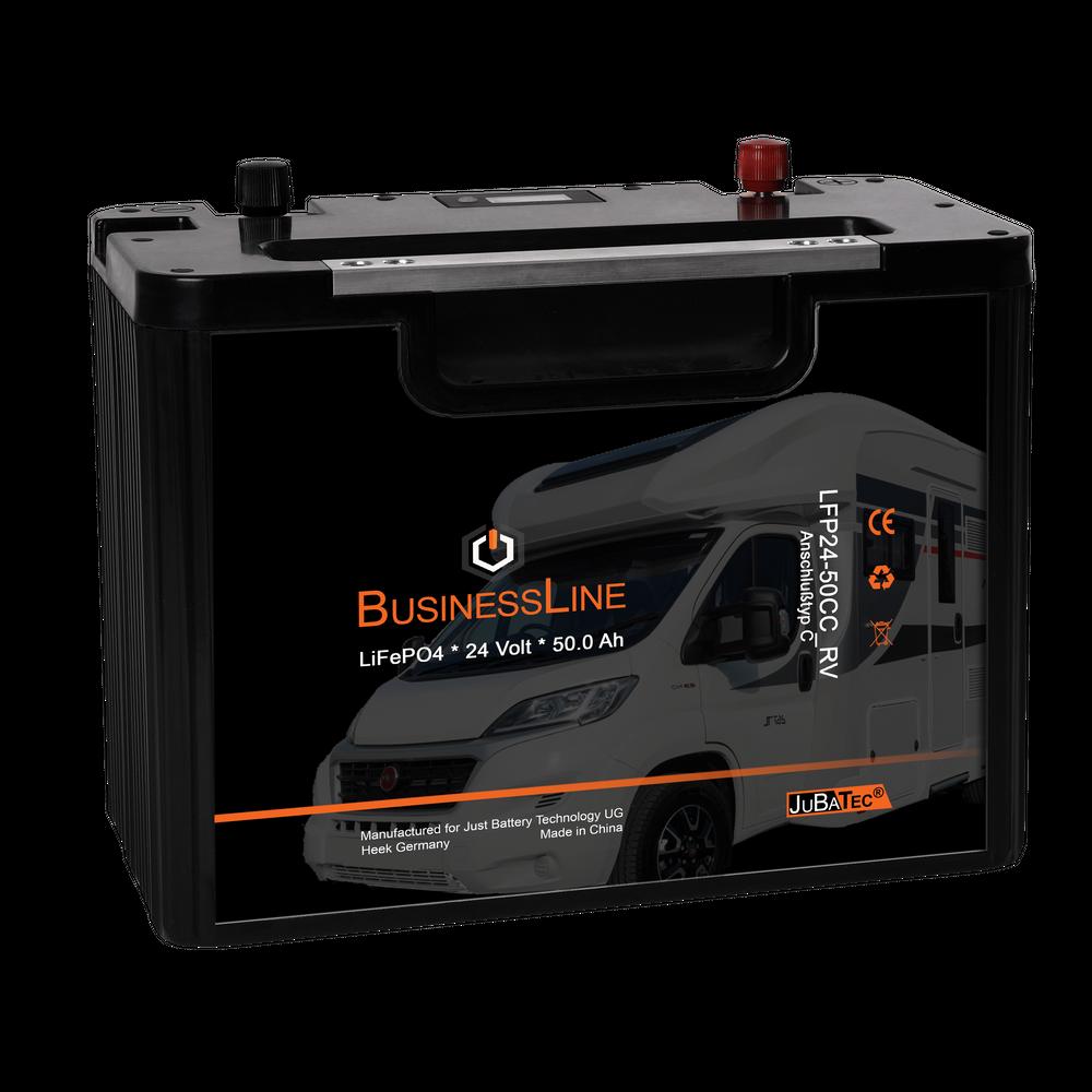LiFePO4 Akku 24V 50Ah RV mit BMS (Batterie Management System)